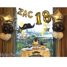 helium birthday balloons happy 18th birthday to zac a moustache themed party helium