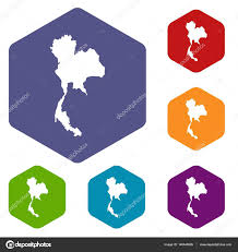 thailand map icons set u2014 stock vector ylivdesign 140445926