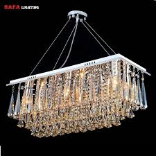 aliexpress com buy chandeliers dining room rectangle crystal
