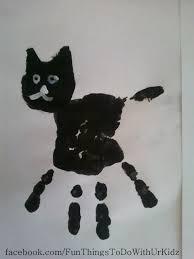 black cat hand print halloween actives pinterest black cats