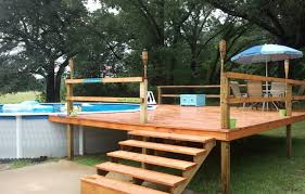 above ground pool deck kits gorgeous ideas for above ground pool