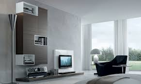 open wall unit modern design living room storage