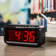 Bling Alarm Clock Kwanwa Small Battery Operated Only Vibrant Quite Wake Portable Led