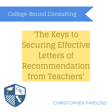 the keys to securing effective letters of recommendation from