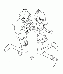 16 pics of peach and daisy and rosalina coloring pages coloring