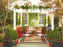 Home Fresh by Fresh Courtyard With Home Garden Idea Feat Dining Set Under