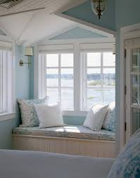 Light Blue Bedroom Love The by Cape Cod Coastal Blue Reading Nook Of Master Bedroom Via