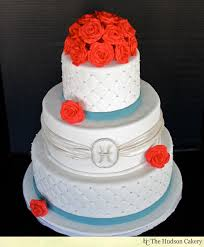 Red And Silver Wedding Red Rose U0026 Teal Wedding Cake Weddings The Hudson Cakery