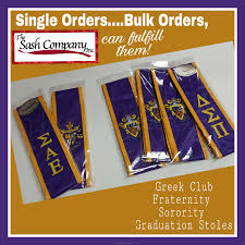 sorority graduation stoles club fraternity sorority bulk order grad stoles