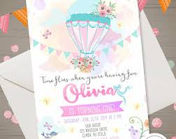 air balloon invitation etsy