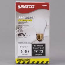 23 volt 3 watt light bulbs satco s4882 60 watt frosted shatterproof finish incandescent rough