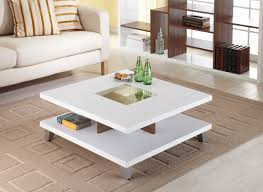 Glass Center Table by Furniture Of America Trenca White And Walnut Coffee Table Home