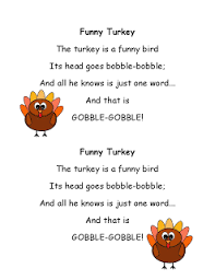 literacy minute turkey poems for thanksgiving poems rhymes