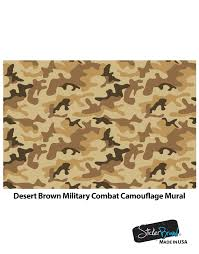 desert brown military camo camouflage wall mural 6062