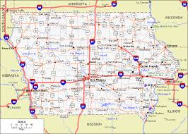 map us iowa iowa counties road map usa