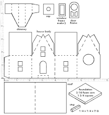 glitter houses pattern you may print the structure