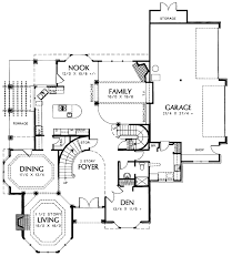 tudor style house plan 4 beds 4 baths 3870 sq ft plan 48 740 floor plan main floor plan