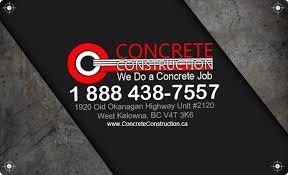 concrete business cards west kelowna kelowna call 250 899 5553 concrete construction