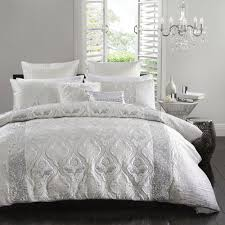 Silver Queen Bed Logan And Mason Lopez Silver Queen Bed Quilt Cover Set In 2 Linen