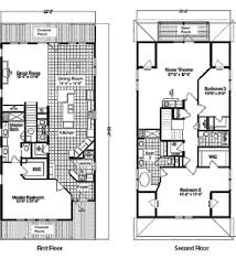 Two Storey Floor Plans Modern 2 Story House Floor Plans