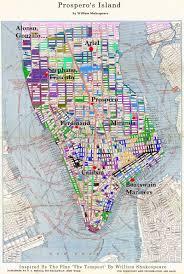 New York Islands Map by Prospero U0027s Island U2013 Pmw Music