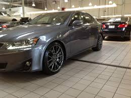 lowered lexus is300 f sport lowering springs and is f wheels on 2012 is350awd