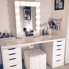Ikea Vanity Table With Mirror And Bench 13 Diy Makeup Organizer Ideas For Proper Storage Ikea Desk