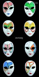 white masquerade masks halloween party chinese mache women