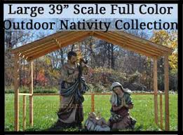 nativity outdoor outdoor nativity sets yonderstar