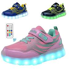 light up running shoes amazon com fansite 16 colors led light up running shoes for kids