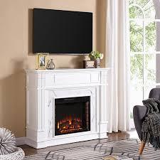 Media Electric Fireplace Highgate Faux Cararra Marble Media Electric Fireplace 8578684 Hsn