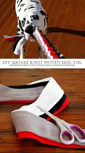 diy for dogs square knot fleece tug toy squares toy and dog