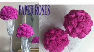 wedding home decor paper towel rose balls for party decor wedding home decor youtube
