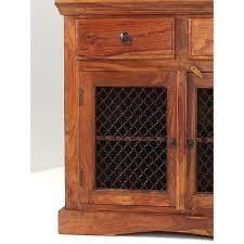 jali 3 door sheesham sideboard sheesham furniture furniture manibhadram 3 door drawer sheesham wood sideboard with jali door
