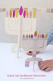 creative jewish mom holiday chanukah hanukkah hanukkah craft kit menorah cardboard two sizes