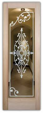Ornate Interior Doors Interior Doors With Glass Etching Tuscan Decor Ornate Iron Bars