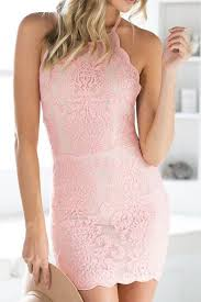 light pink bodycon dress spaghetti strap backless lace embroidered bodycon dress pink summer