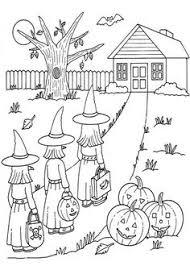 halloween candy coloring kindergarten holidays