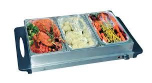 electric 3 pan buffet food server warming tray
