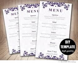 as 25 melhores ideias de diy menu cards template no pinterest