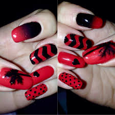 36 black and red nail designs black and red nail designs red and