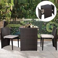 Bistro Patio Table And Chairs Set Small Patio Furniture Set Garden Outdoor Bistro Wicker Rattan