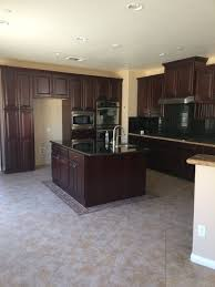 Kitchen Floors With Cherry Cabinets Keep The Cherry Cabinets Or Go With White