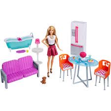 barbie kitchen furniture barbie doll u0026 furniture giftset on shopsavvy