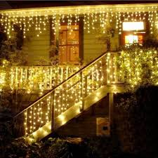 twinkling white led icicle lights 4m led icicle led curtain fairy string light christmas light 220v