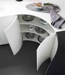 meubles arrondis éloge de la courbe en cuisine mobalpa