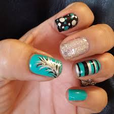 feather gel nails images