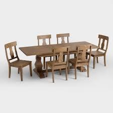 charlotte dining table world market wood deighton extension dining table world market
