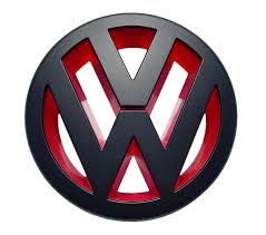 volkswagen red front grill badge emblem black red vw caddy jetta mk3 eos golf mk5