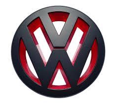 volkswagen red front grill badge emblem black red vw caddy jetta mk3 eos golf mk5